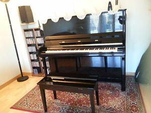 Professional upright piano and bench -Samick