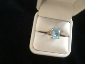 BLUE TOPEZ GOLD RING