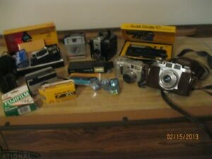 Collection of older cameras