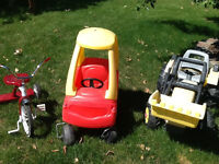 Cozy Coupe, Ride-on Pedal Tractor & Flexible Flyer Tricycle