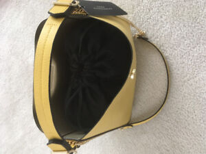 Zara yellow clutch purse NEW