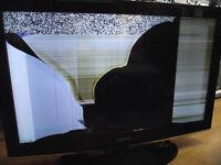 Cracked screen, scrap, need repair LCD, LED, Plasma TVs wanted