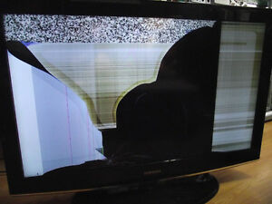 Cracked screen, scrap, need repair LCD, LED, Plasma TVs wanted