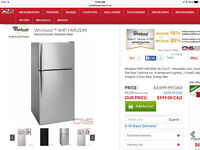 Brand new Whirpool Refridgerator, Stove, Built in Dishwasher