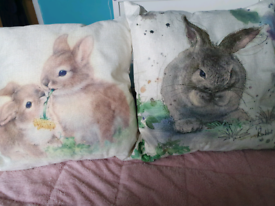 Brand new rabbit cushions