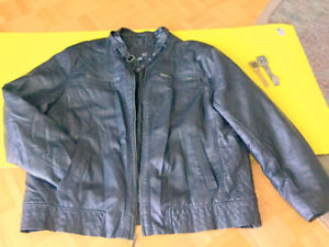 Great Men's Jacket XXL Black Leather 'J. Ferrar' Boys
