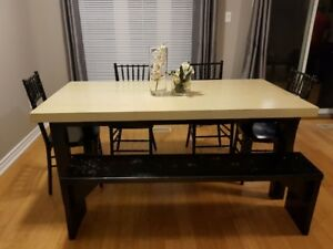 6 Seat Dining Table with Bench