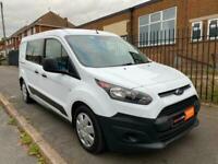 2017 67 Ford Transit Connect Combi Crew 1.5 TDCI EU6 100 LWB L2 White Van NO VAT