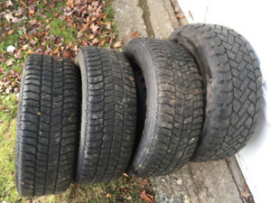 2008 dodge caravan snow tires and rims