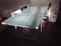 Glass Dining Table / Work Desk Station