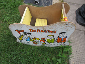 ROCKER WOODEN - FLINTSTONES - OLD