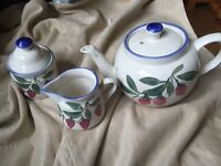 Tea pot, sugar pot and milk jug