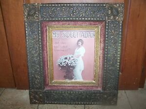 Antique Gesso Style on Wood Framed My Sweet Adair Print
