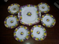 Paragon Fine Bone China Spring Melody Cake Plate & Dishes