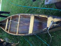 16 foot wooden canoe