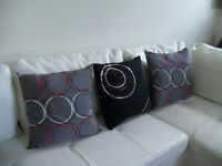 3 STYLISH ACCENT PILLOWS *** CAN DELIVER