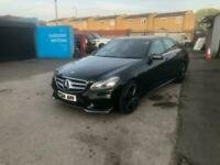 Mercedes E220 AMG LINE AUTO black FSH mot 2key fully loaded nav Phone leather