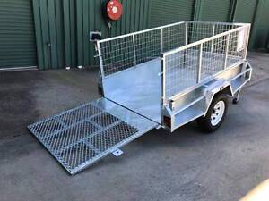 7x4 Trailer HD Built-Incl 600mm Cage with Full width Loading Ramp Cabarlah Toowoomba Surrounds Preview