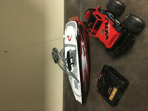 3in1 remote control boat and truck package