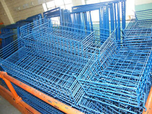 Blue enameled steel wire baskets and steel frames London Ontario image 1