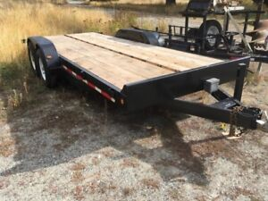 18' Equipment Trailer with 2 7000 lb Axles in Awesome Shape