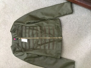 Bebe brand new jacket with tags army green