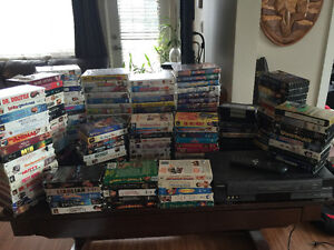 150+ VHS and Toshiba VHS Player