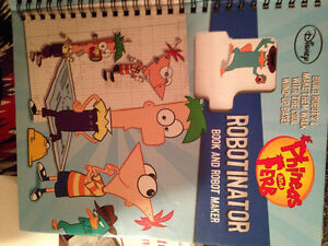 Phineas and Ferb book and Robot maker