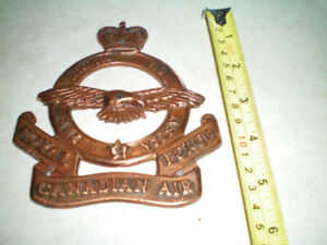 ROYAL CANADIAN AIR FORCE BRASS PLATE (Per Ardua Ad Astra)