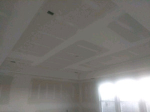 Drywall finisher mud taping and repair