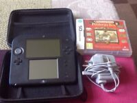 Blue 2ds, case, professor Layton game and charger