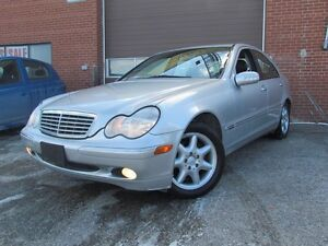 2001 Mercedes-Benz C-Class C240,Low KMs,RWD,Leather,Sunroof,Allo