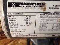 1/4 to 1/3rd HP belt drive motors