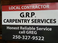 Here Comes the Rain Again ! GRP Carpentry Services Fall projects