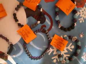Real gemstone essential oil infusable bracelets. Custom orders