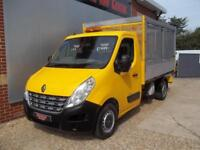 £ 44 A WEEK - 2012 RENAULT MASTER 2.3 ALLOY CAGED TIPPER TRUCK 145HP