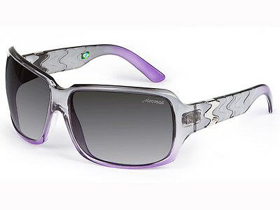 New MORMAII Flora Women's Fashion Eyewear Sunglasses Frame Color Violet / Gray
