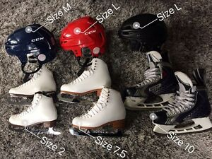 Hocky Skates, Figure Sktates & Helmets