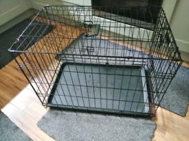 Double door dog crate cage medium/small