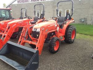 New Kubota L2501 4WD diesel tractor and loader