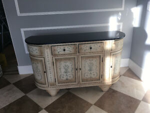 Hand Painted Chest with Granite Top - Moving Sale