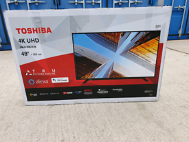 TV 49INCH TOSHIBA NEW UNUSED SMART 4K ULTRA HD HDR WITH BLUETOOTH ALEX