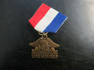 HOG Life Member pin and ribbon