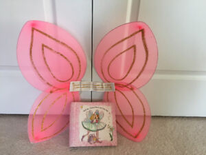 butterfly fairy wings costume Halloween, princess address diary