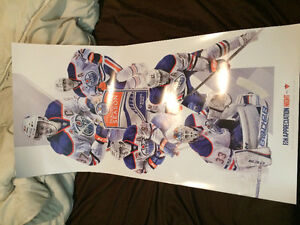 Oilers poster 3 ft long new!