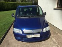2007 FIAT MULTIPLA WITH TOWBAR 6 SEATER.