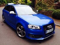 ***AUDI S3 SPORTBACK***DSG***BLACK EDITION***MILLTEK***350BHP***BIG SPEC***SAT NAV***CHEAPEST ON NET