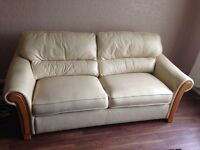 Large leather double sofa bed