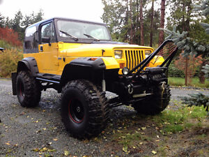lifted 1990 Jeep 4x4 v-8 auto