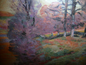 "Impressionist ""Autumn Reflections' Matted Art Print Stratford Kitchener Area image 3"